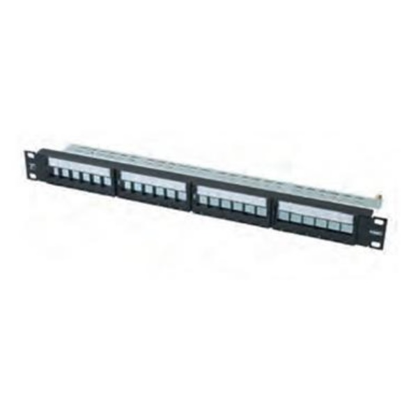 24 Port STP Patch Panel- Unloaded ( AMP-1-1671183-1 )